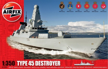 Airfix byggesett 1/350 HMS Daring Type 45 Destroyer A12203