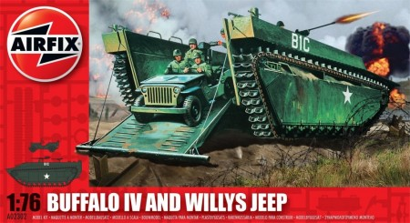 Airfix byggesett 1/76 Buffalo IV And Willys Jeep A02302