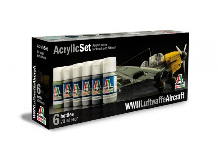 Italeri Arcylic Set WWII Luftwaffe Aircraft (6stk. 20ml)