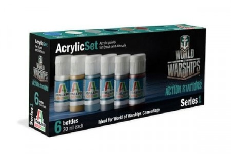 Italeri Arcylic Set World of Warships (6stk. 20ml)