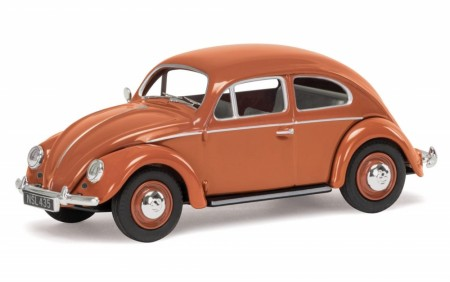 Corgi 1/43 VW Beetle, Coral Oval Rear Window Saloon Limited Edition