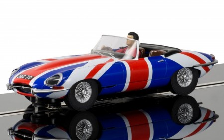 Scalextric bil 1:32 Jaguar E-Type Union Jack