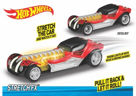 Hot Wheels Stretch FX Dieselboy m/Lyd og Lys