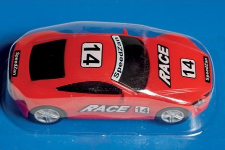 SpeedZan bil 1/43 Race Red Racer