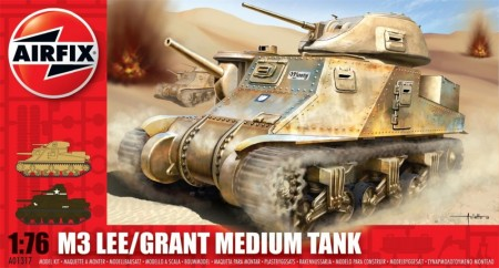 Airfix plastbyggesett 1/76 M3 LEE/Grant Medium Tank A01317