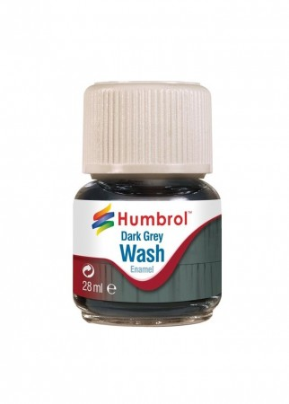 Humbrol Enamel Wash - Dark Grey 28ml