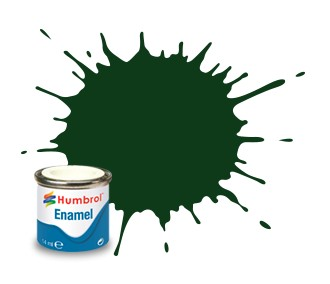 Humbrol Enamel No 3 Brunswick Green - Blank 14ml