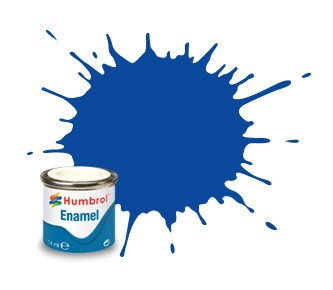 Humbrol Enamel No 222 Moonlight Blue - Metallic 14ml