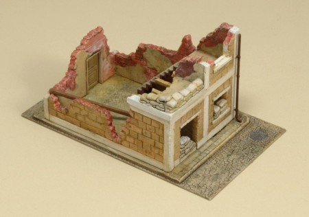 Italeri byggesett 1/72 Wrecked House No 6161