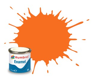 Humbrol Enamel No 46 Orange - Matt 14ml