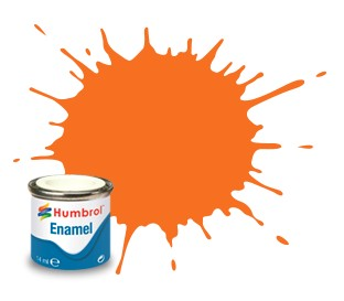 Humbrol Enamel No 18 Orange - Blank 14ml