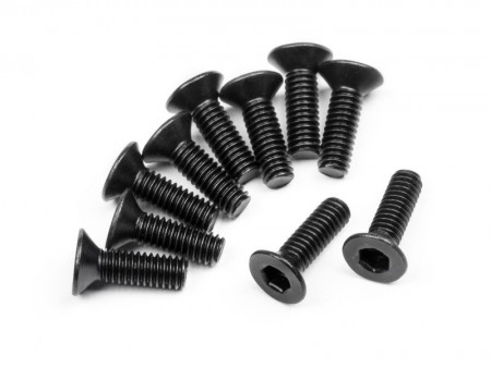 113719 HPI Flat Head Screw M2.5X8mm (Hex Socket/10 stk.)