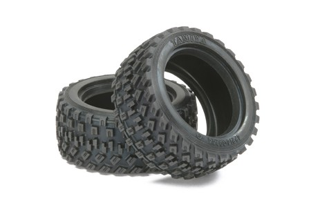 51427 Tamiya Dekk 60D Rally Block Tire (2stk.)