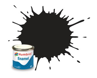 Humbrol Enamel No 33 Black - Matt 14ml