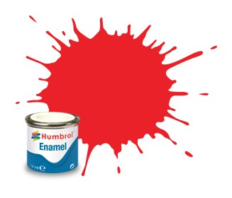 Humbrol Enamel No 19 Bright Red - Blank 14ml