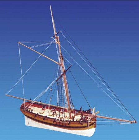 Caldercraft trebyggesett 1/64 H.M Cutter Sherbourne