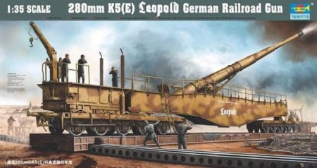Trumpeter 1/35 280mm K5(E) Leopold German Railway Gun