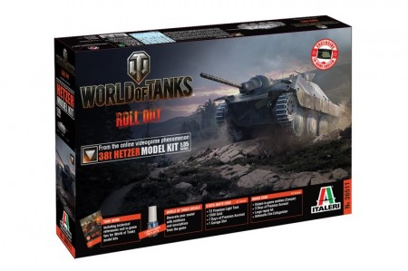 Italeri 1/35 World of Tanks Roll out 38t Hetzer m/Lim