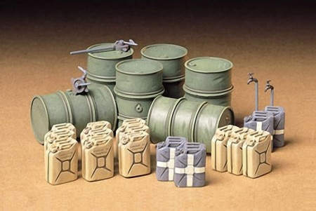Tamiya 1/35 German Fuel Drum Set