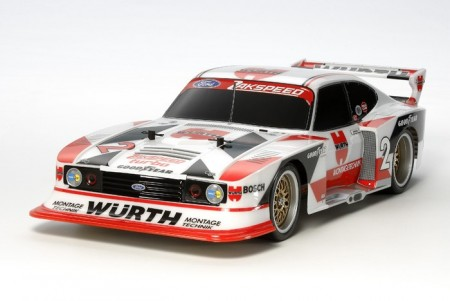 Tamiya RC byggesett 1/10 Ford Zakspeed Turbo Capri Gr.5 Wurth (TT-02)