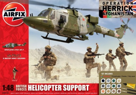 Airfix Gavesett 1/48 British Forces Helicopter Support A50122
