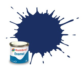 Humbrol Enamel No 15 Midnight Blue - Blank 14ml