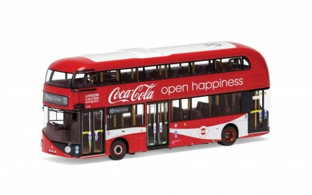 Corgi 1/76 New Routemaster - London United - LTZ 1148 - Route 10 - Kings Cross - Coca Cola