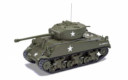 Corgi 1/50 Sherman M4A3 (Late) - US Army, Luxembourg December 1944