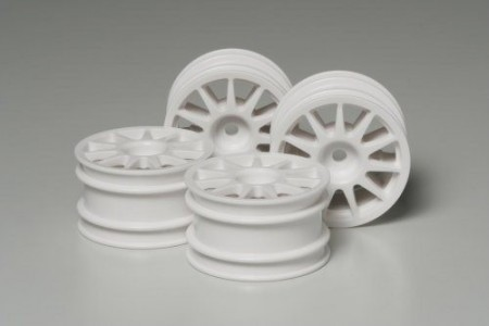 51237 Tamiya M-Chassis 11-Spoke Wheels Hvite 4 stk.