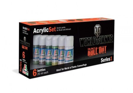 Italeri Arcylic Set World Of Tanks Roll Out (6stk. 20ml)
