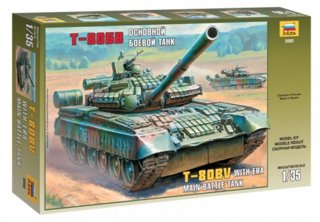 Zvezda 1/35 Main Battle Tank With Era T-80BV