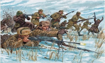 Italeri Infanterisett 1/72 Russian Infantry in (Winter Uniform) 6069