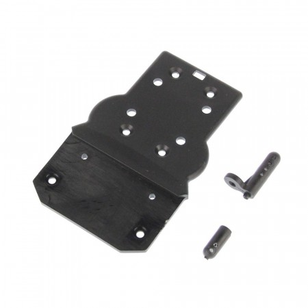 681-P004 HBX Front Bottom Plate + Buggy Body Posts