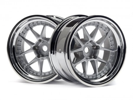 114636 HPI DY-Champion 26mm Wheel (Chrome/Silver/9mm OS/2 stk.)