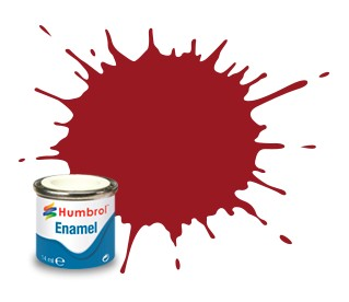 Humbrol Enamel No 20 Crimson - Blank 14ml
