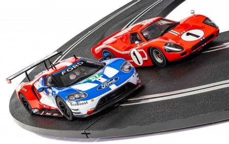 Scalextric Bilsett 1:32 Legends of Le Mans 50 Years of Ford Twin Pack Limited Edition