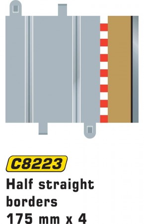 Scalextric Borders & barriers Half straight 175mm C8223