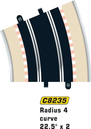 Scalextric Rad 4 Outer Curve 22.5° (2stk) C8235
