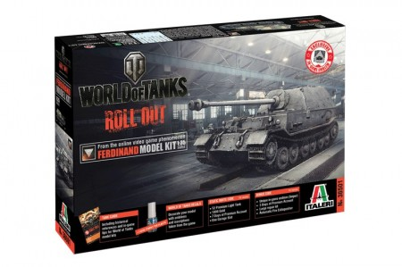 Italeri 1/35 World of Tanks Roll out Ferdinand m/Lim
