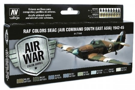Vallejo Model Air RAF Colors SEAC (Air Command South East Asia) 1942-45