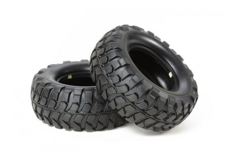 54598 Tamiya CC-01 Rock Block Tires Soft (2stk.)