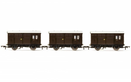 Hornby GWR Horse Box -Triple Pack (3stk.) - Era 3