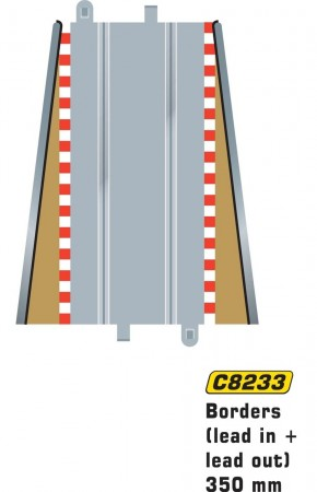 Scalextric Lead in/Lead out borders 350mm C8233