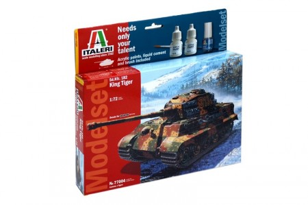 Italeri Startsett 1/72 Sd.Kfz 182 King Tiger 77004