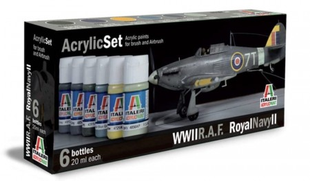Italeri Arcylic Set WII RAF Royal Navy II (6stk. 20ml)