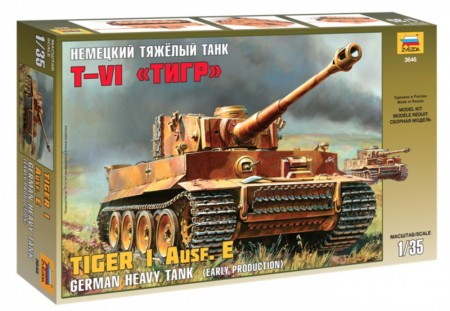 Zvezda 1/35 German Heavy Tank Tiger I Ausf.E (Early Production)