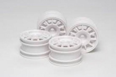 51394 Tamiya M-Chassis 11-Spoke Racing Wheels Hvite 4 stk.