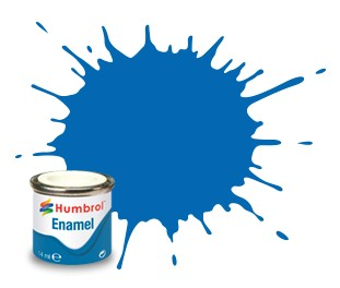 Humbrol Enamel No 52 Baltic Blue - Metallic 14ml