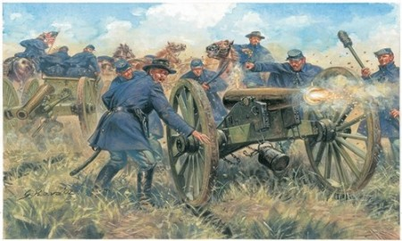 Italeri 1/72 Union Artillery American Civil War 6038