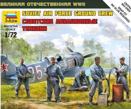Zvezda 1/72 Soviet Air Force Ground Crew Snap Kit